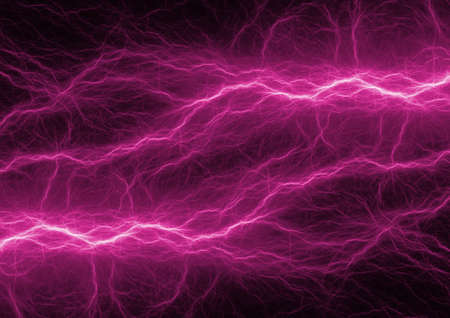 Purple neon plasma charge, abstract electrical background