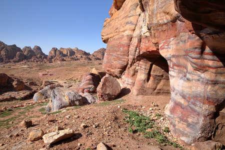 PETRA, JORDAN: Colorful sandstone