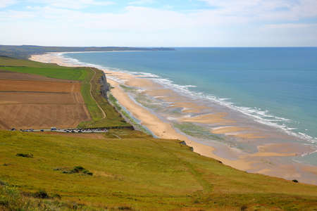 View of the coast from Cap Blanc Nez, Cote d'Opale, Pas-de-Calais, France Standard-Bild