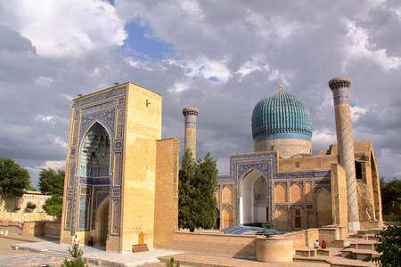 SAMARKAND, UZBEKISTAN: Gur-e-Amir Mausoleum