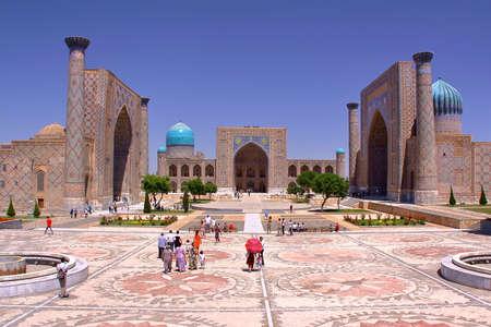 registan: SAMARKAND, UZBEKISTAN - MAY 21, 2011: The Registan