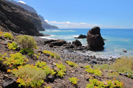 ALOJERA, LA GOMERA, SPAIN: The Playa del Trigo near Alojera