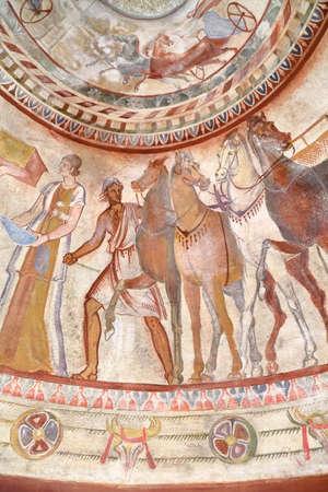KAZANLAK, BULGARIA - JULY 26, 2015: Thracian Tomb Editorial