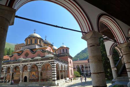 RILA, BULGARIA - JULY 23, 2015: The Rila monastery