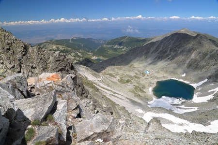 RILA MOUNTAINS, BULGARIA: Panoramic view from Mousala Peak