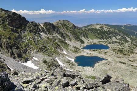 RILA MOUNTAINS, BULGARIA: View from Mousala Peak