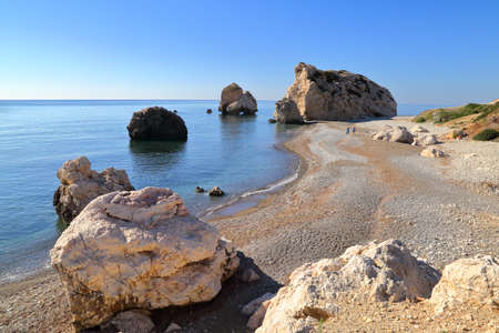 PETRA TOU ROMIOU, CYPRUS: Aphrodites rock and beach near Pafos