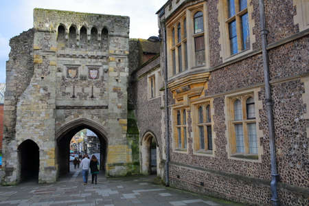 winchester: WINCHESTER, UK - FEBRUARY 4, 2017: Westgate Museum with the exterior facade and the archway Editorial