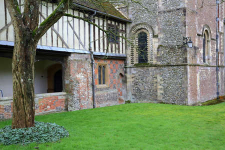 almshouse: WINCHESTER, UK - FEBRUARY 5, 2017:  Hospital of St Cross and Almshouse of Noble Poverty Editorial