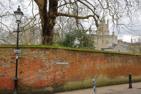 winchester: WINCHESTER, UK - FEBRUARY 5, 2017: View of Winchester College from College Street