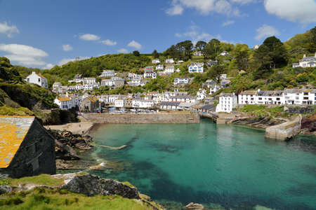 POLPERRO, CORNWALL, UK: Polperro fishing port Standard-Bild