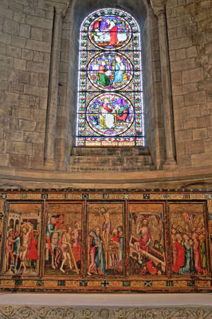 reredos: NORWICH, UK - JUNE 5, 2017: The Despenser Reredos in St Lukes Chapel inside the Cathedral