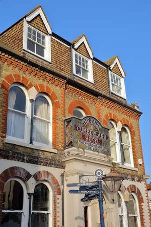 WHITSTABLE, UK - OCTOBER 15, 2017: Duke of Cumberland Pub in High Street