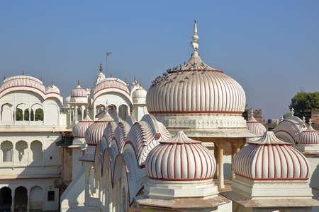 Hindu Gherka temple (close to Morarka Haveli) in Nawalgarh, Shekhawati, Rajasthan, India Stock fotó