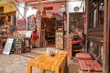 SARAJEVO, BOSNIA AND HERZEGOVINA - SEPTEMBER 23, 2019: Kazandziluk street, located in Bascarsija district, the famous coppersmith trading place in Sarajevo Editorial