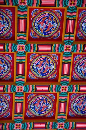 gyeongbokgung: ceiling in gyeongbokgung the famous palace of Korea