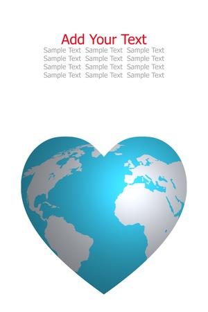 amor al planeta: mundo de amor Foto de archivo