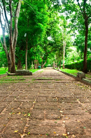footpath of  thai culture