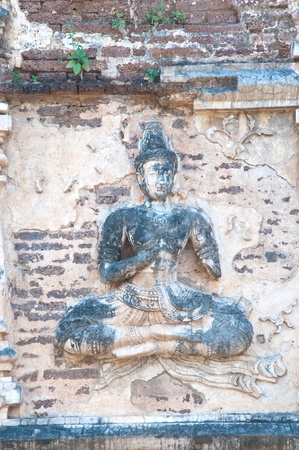 Old statue of Buddha image, Thailand Stock Photo - 12651401