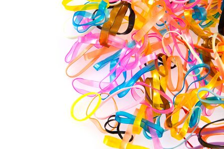 colorful of plastic band on white background Stock Photo - 12947912