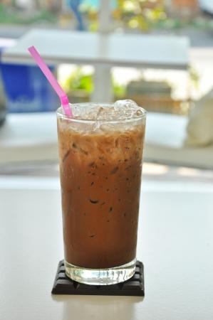 mocha: ice coffee