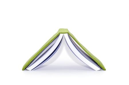 inverted open book on white background Banco de Imagens