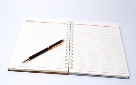Notebook and pen Stock Photo - 14188274
