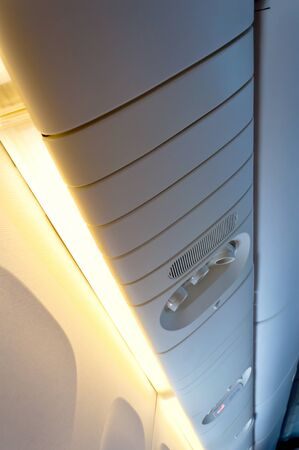 light in commercial aircraft interior photo