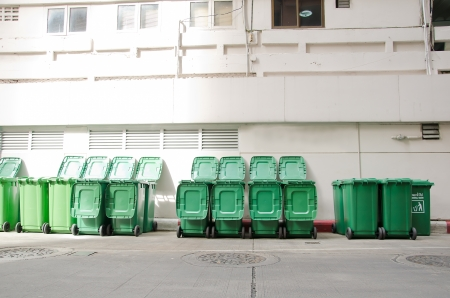 large green trash cans  garbage bin  with wheels
