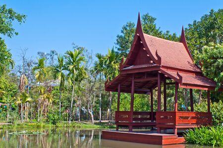 thai tradition waterfront pavillian Stock Photo - 14992755