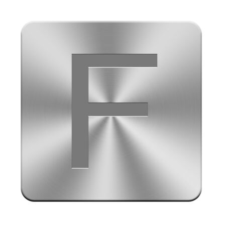 massive: Letters, sign and symbol on aluminium buttons, keyboard buttons
