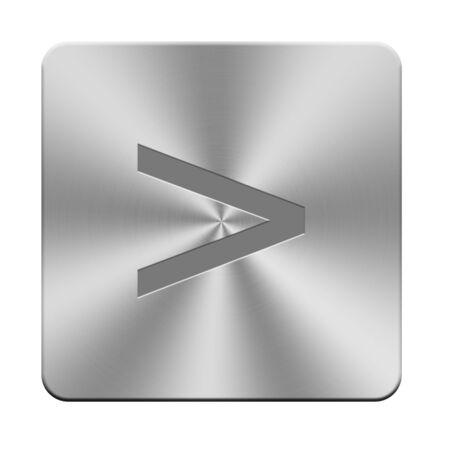 文字、記号とシンボルのアルミニウム ボタンをキーボードのボタン 写真素材