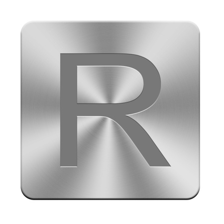 r fine: Letters, sign and symbol on aluminium buttons, keyboard buttons