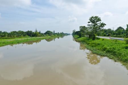cours d eau: Canal, voie d'eau, cours d'eau en Tha�lande Banque d'images