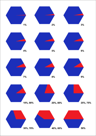 correlate: Collection of fraction hexagon. Sure! You can divide it easily. Can used for workflow layout, banner, diagram, number options, step up options, web design.