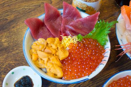 Japanese food, fresh fish and fish