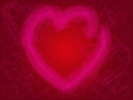 eart: Valentines Day pink heart eart on red Background, EPS10 Vector Illustration