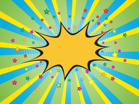 zonk: Comic speech bubble on burst background Illustration