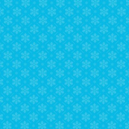 christmas backdrop: Snowflake pattern on blue background. Christmas pattern design for backdrop Illustration
