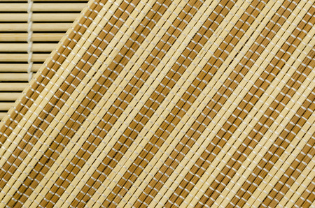 Close up brown wicker weave texture