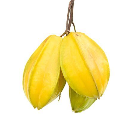 Fresh star apple fruit on white background