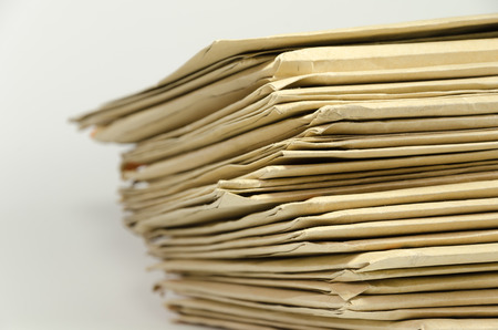 Pile of brown envelopes