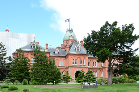 the former: Former Hokkaido Government Office in Sapporo Stock Photo