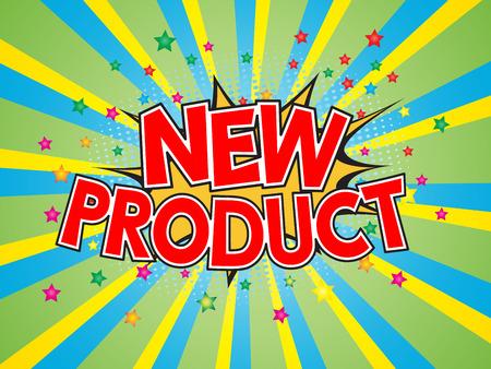 dinamita: New Product, wording in comic speech bubble on burst background, EPS10 Vector Illustration