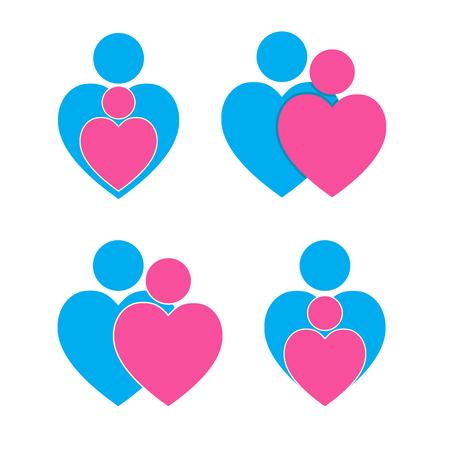 Togetherness Hearts Symbol Royalty Free Cliparts Vectors And