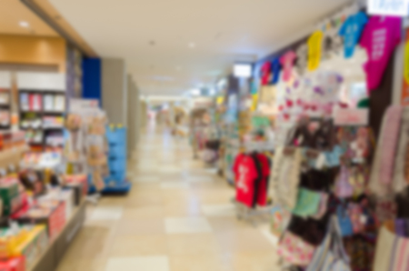 Blur background of shopping center Banco de Imagens