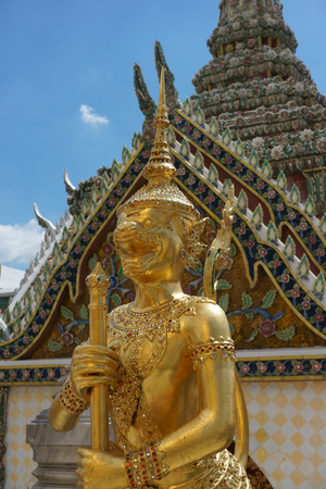 BANGKOK JULY 17: Legends of Himmapan Forest Statue in Wat Phra Kaew on July 17, 2016 in Bangkok, Thailand. Wat Phra Kaew, Famous temple of the Emerald Buddha in Bangkok Thailand.