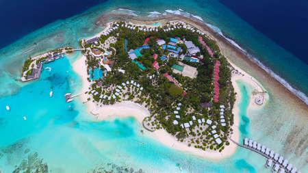 Maldives aerial view