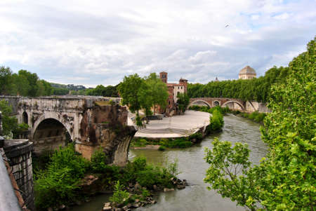 cor: Isola Tiberina - Rome Stock Photo