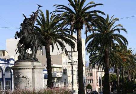 Mission Dolores neighborhood Monument in San Francisco photo